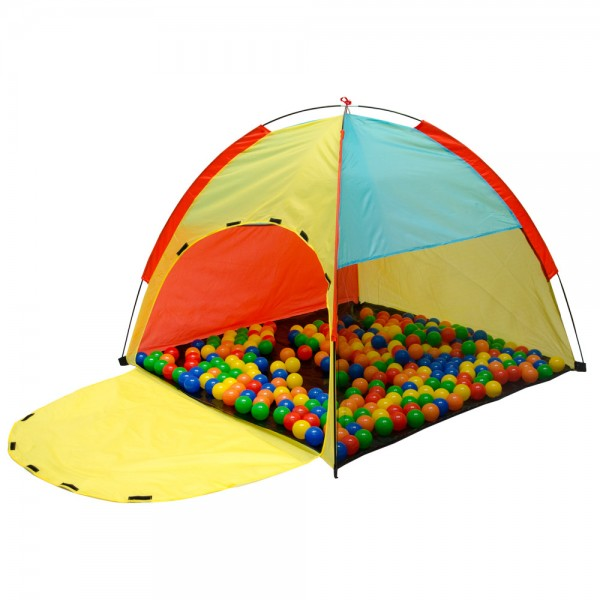 LittleTom Play Tent 122x122x107cm children's toy pop-up ball pit Multicolored
